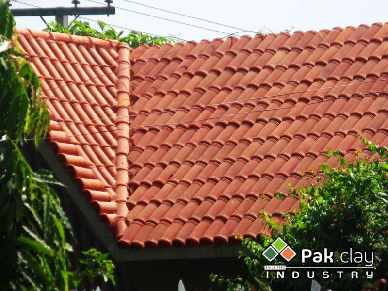 Pak clay glazed roof tiles prices floor wall tiles for Clay tile roofs