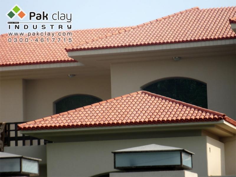 Barrel murlee roofing tiles 9 pak clay floor tiles pakistan for Barrel tile roof colors