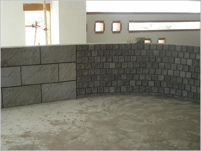 Black Antique Stone Look Concrete Split Cladding Tiles