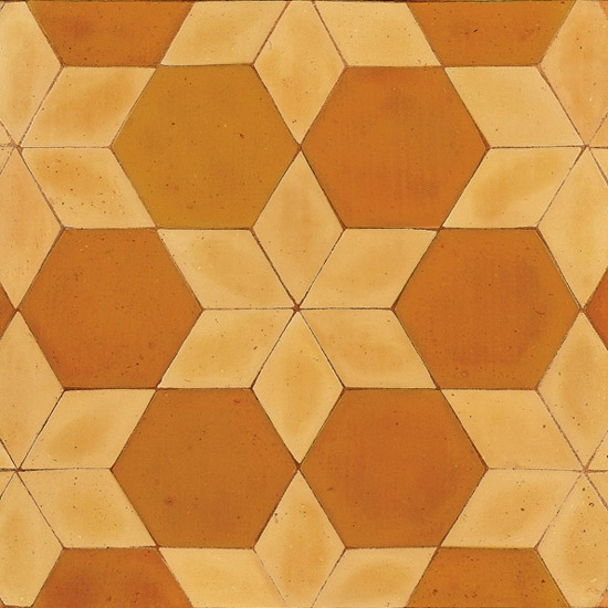 Hexagon Tiles 6x6x1 Hexagonal Terracotta Floor Tiles