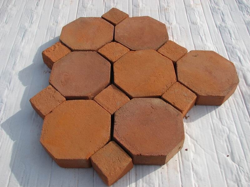 Octagon Tiles 8x8x1 Pak Clay Floor Tiles Pakistan
