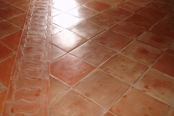 Square 12x12x1 Pak Clay Floor Tiles Pakistan