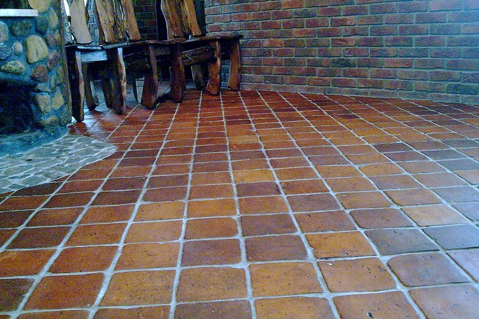 Square Pak Clay Floor Tiles Pakistan - 4x4 terracotta tile