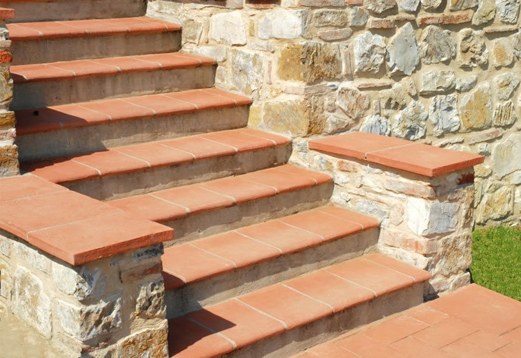 Terracotta Stair Tread Tiles Pool Copings Products