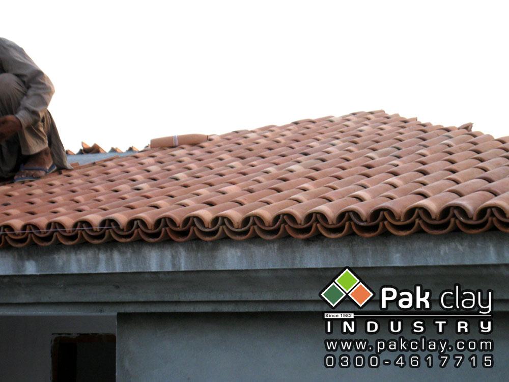 Khaprail tiles roof tiles lahore pakistan pak clay floor for Barrel tile roof colors