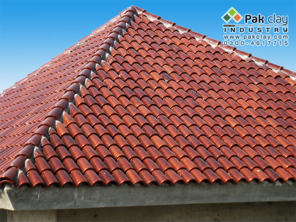 Red mud clay roof tiles pak clay floor tiles pakistan for Clay roofs