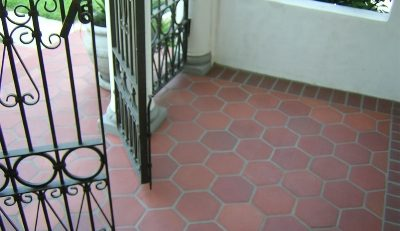 Red Tiles Floor Home Design