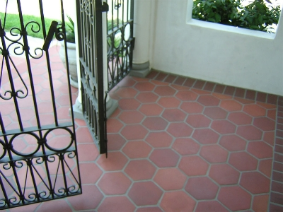 Red Tiles Floor Home Design