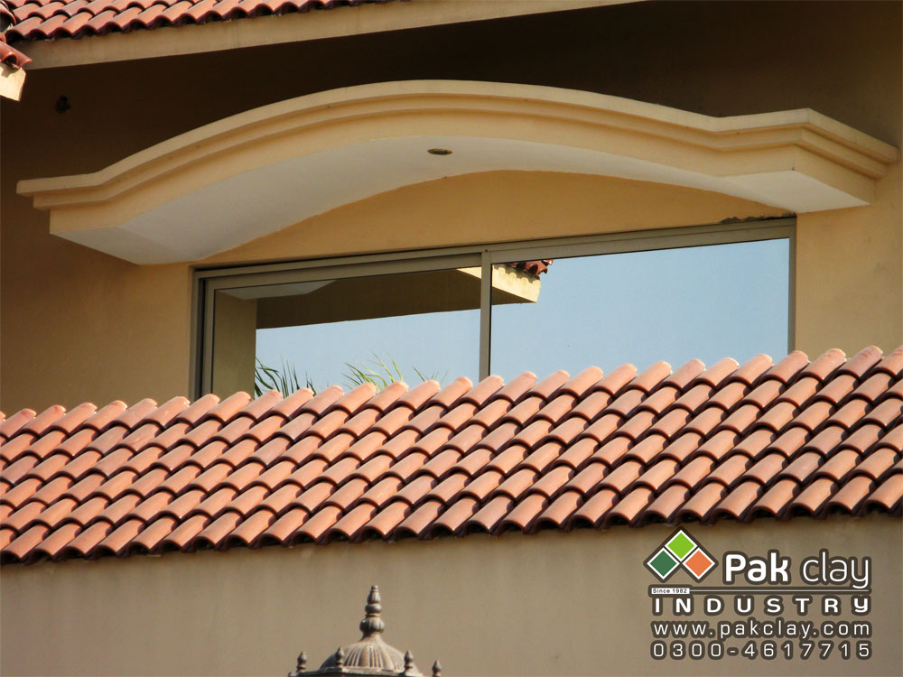 Red clay terracotta bricks glazed roof tiles special kilns furniture in pakistan - Houses with ceramic tile roofing ...