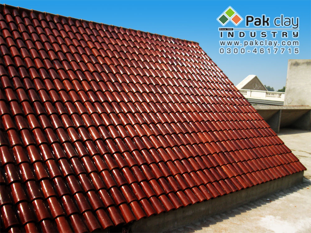 The clay roofing tiles shop and showrooms and large in for Clay tile roof