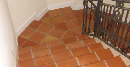 Terracotta Tiles Stair Modern Home Styles Design Pattern Variety