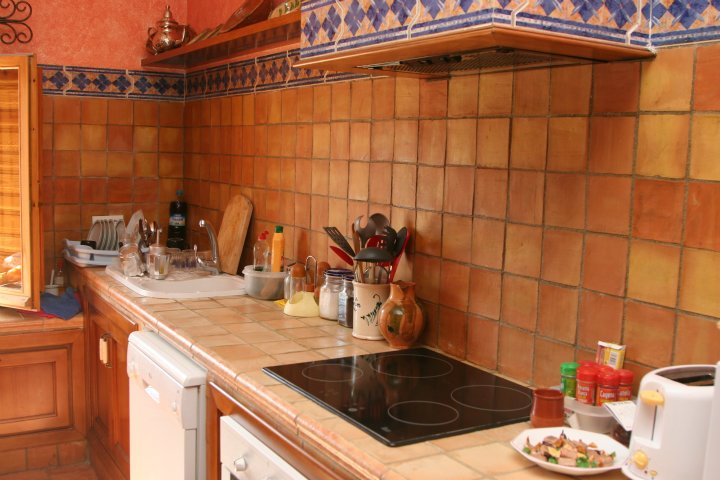 Orange Kitchen Wall Tiles