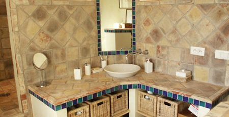Bathroom Terracotta Tiles Around Vanities in Islamabad