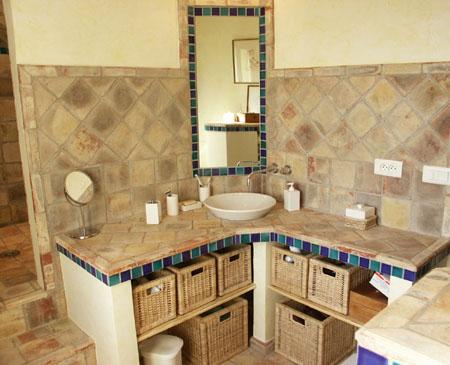 Bathroom Terracotta Tiles Around Vanities in Islamabad