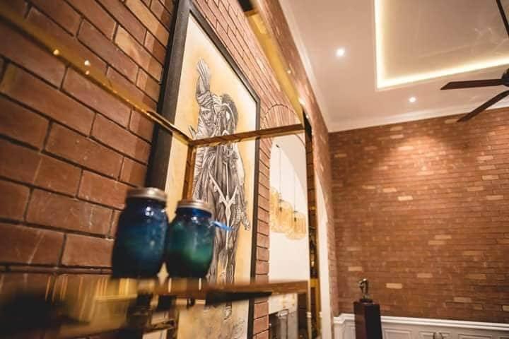 Clay Tiles Karachi Interior Wall Red Brick Gutka Tiles Design