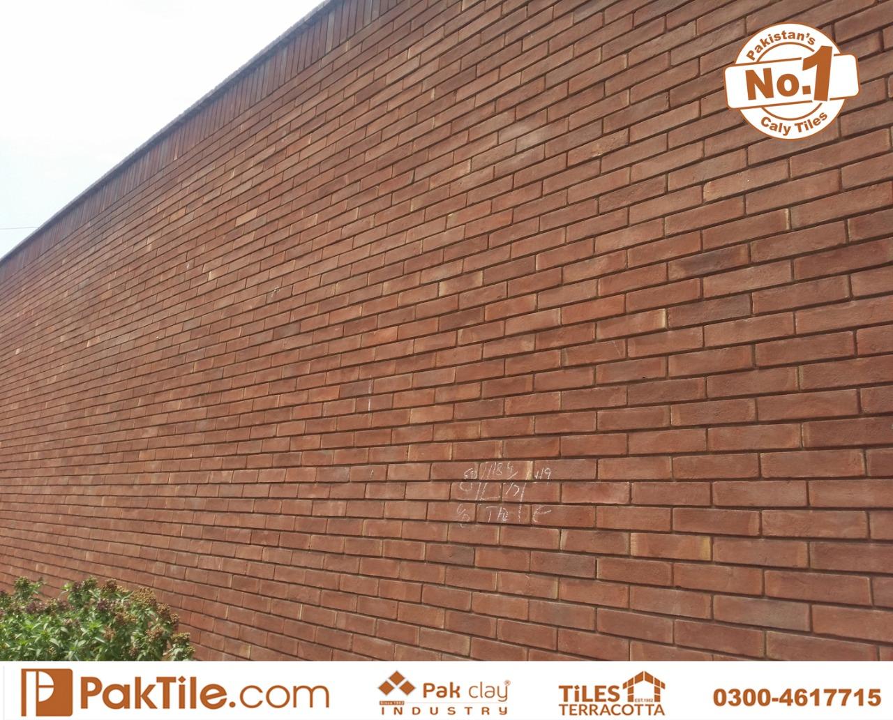 brick tile size in pakistan